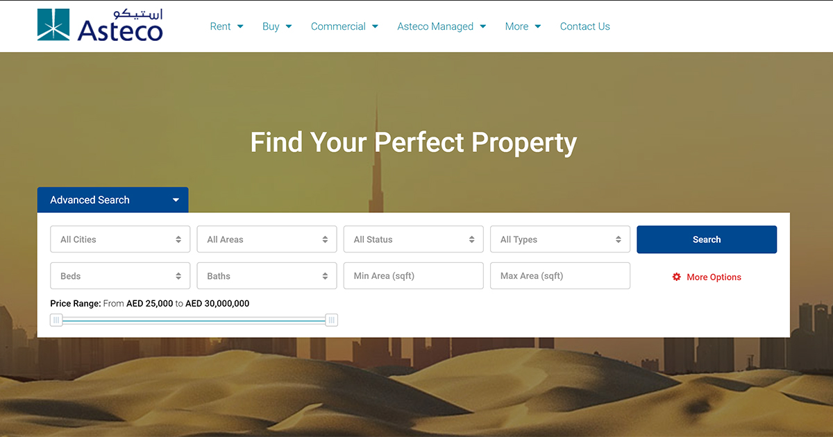 Properties for Rent and Sale in UAE | Asteco Property Search